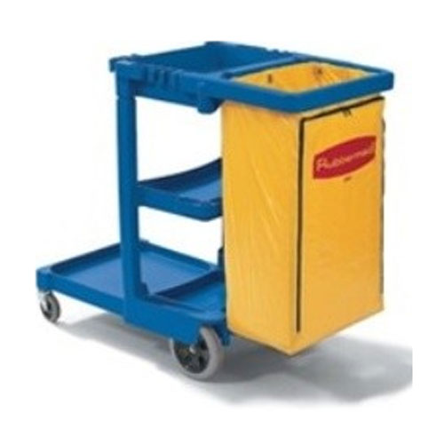 Rubbermaid Commercial Cleaning Carts w Zippered Yellow Vinyl Bags SKU#RCP6173-88, Rubbermaid Commercial Cleaning Cart with Zippered Yellow Vinyl Bag SKU#RCP6173-88