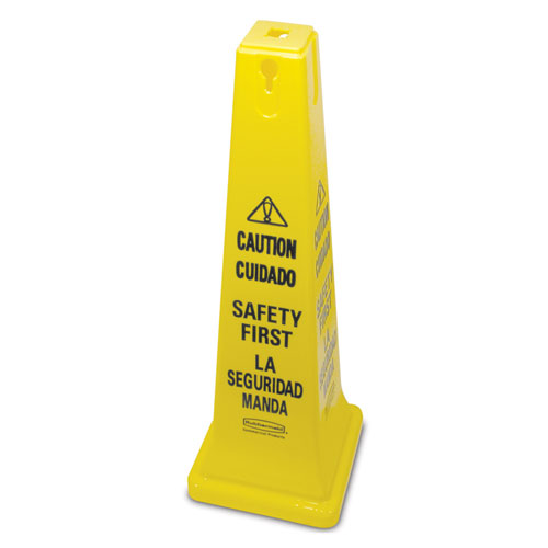 Rubbermaid Commercial Safety Cones 36 Inch w Multi Lingual Caution Imprint SKU#RCP6276-87, Rubbermaid Commercial Safety Cone 36 Inch with Multi Lingual Caution Imprint SKU#RCP6276-87