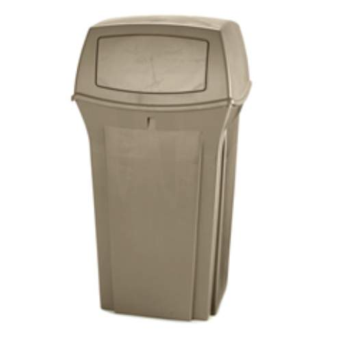 Rubbermaid Ranger 35 Gal Trash Container SKU#RCP8430-88BEI, Rubbermaid Ranger 35 Gallon Trash Container SKU#RCP8430-88BEI
