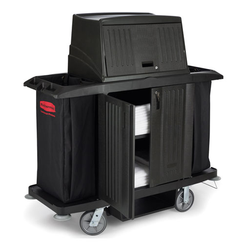 Rubbermaid Commercial Full Size Housekeeping Carts w Doors SKU#RCP9T19, Rubbermaid Commercial Full Size Housekeeping Cart with Doors SKU#RCP9T19