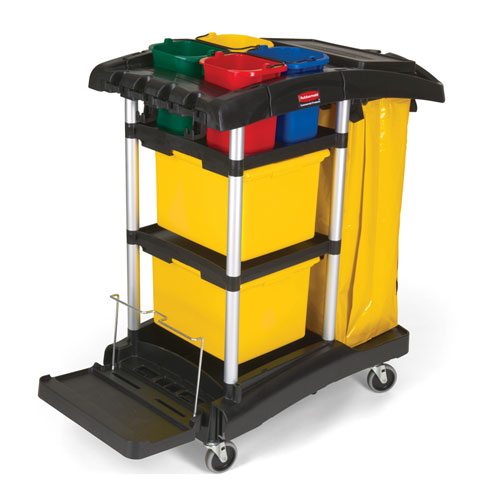 Rubbermaid HYGEN Microfiber Cleaning Carts w Color Coded Pails SKU#RCP9T74, Rubbermaid HYGEN Microfiber Cleaning Cart with Color Coded Pails SKU#RCP9T74