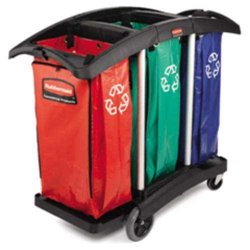 Rubbermaid Triple-Capacity Cleaning Carts SKU#RCP9T92, Rubbermaid Triple-Capacity Cleaning Cart SKU#RCP9T92