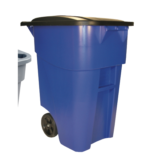 Rubbermaid 50 Gal Brute Rollout Container Blue SKU#RCP9W27BLU, Rubbermaid 50 Gallon Brute Rollout Container Blue SKU#RCP9W27BLU