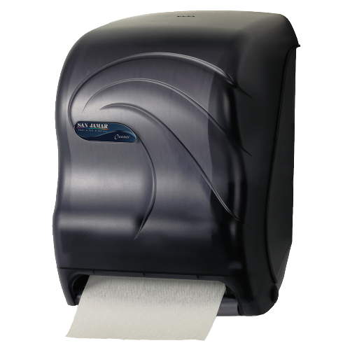 San Jamar Oceans Savvy Lever Roll Towel Dispensers w Auto-Transfer SKU#SANT1290TBK, San Jamar Oceans Savvy Lever Roll Towel Dispenser with Auto-Transfer SKU#SANT1290TBK
