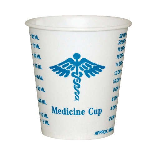 Solo Wax-Coated Paper Graduated Medicine Cup SKU#SCCR3, Dart Solo Wax-Coated Paper Graduated Medicine Cup SKU#SCCR3