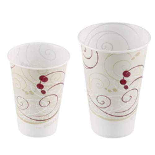 Solo Symphony Design Wax-Coated Paper Cold Cup SKU#SCCRW16SYM, Solo Symphony Design Wax-Coated Paper Cold Cup SKU#SCCRW16SYM