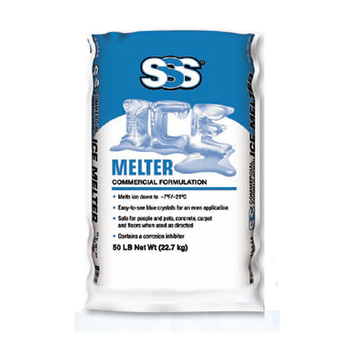 SSS Commercial Ice Melter 50lb Bags SKU#SSS43044, SSS Commercial Ice Melter 50lb Bag SKU#SSS43044