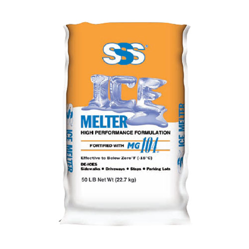 SSS Commercial Ice Melter MG104 50lb Bags SKU#SSS50, SSS Commercial Ice Melter MG104 50lb Bag SKU#SSS50