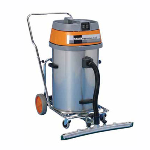 TASKI vacumat 44T Wet Dry Vacuum Cleaner SKU#TASKI-8005.040, TASKI vacumat 44T Wet/Dry Vacuum Cleaner SKU#TASKI-8005.040 shown with fixomat squeegee